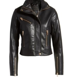 Blank NYC Faux-leather jacket